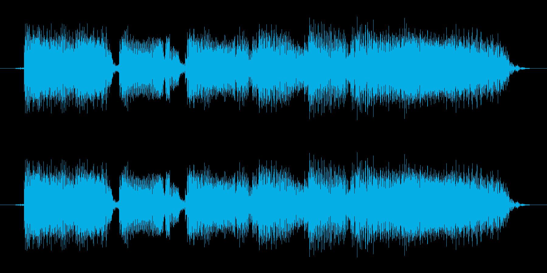 タイトルコールに使えるサウンド(ギター)の再生済みの波形
