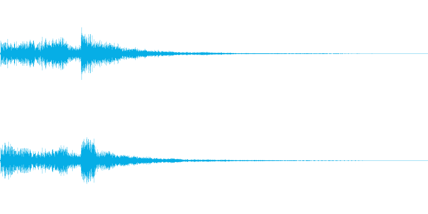 レアアイテム入手に使えるジングルの再生済みの波形