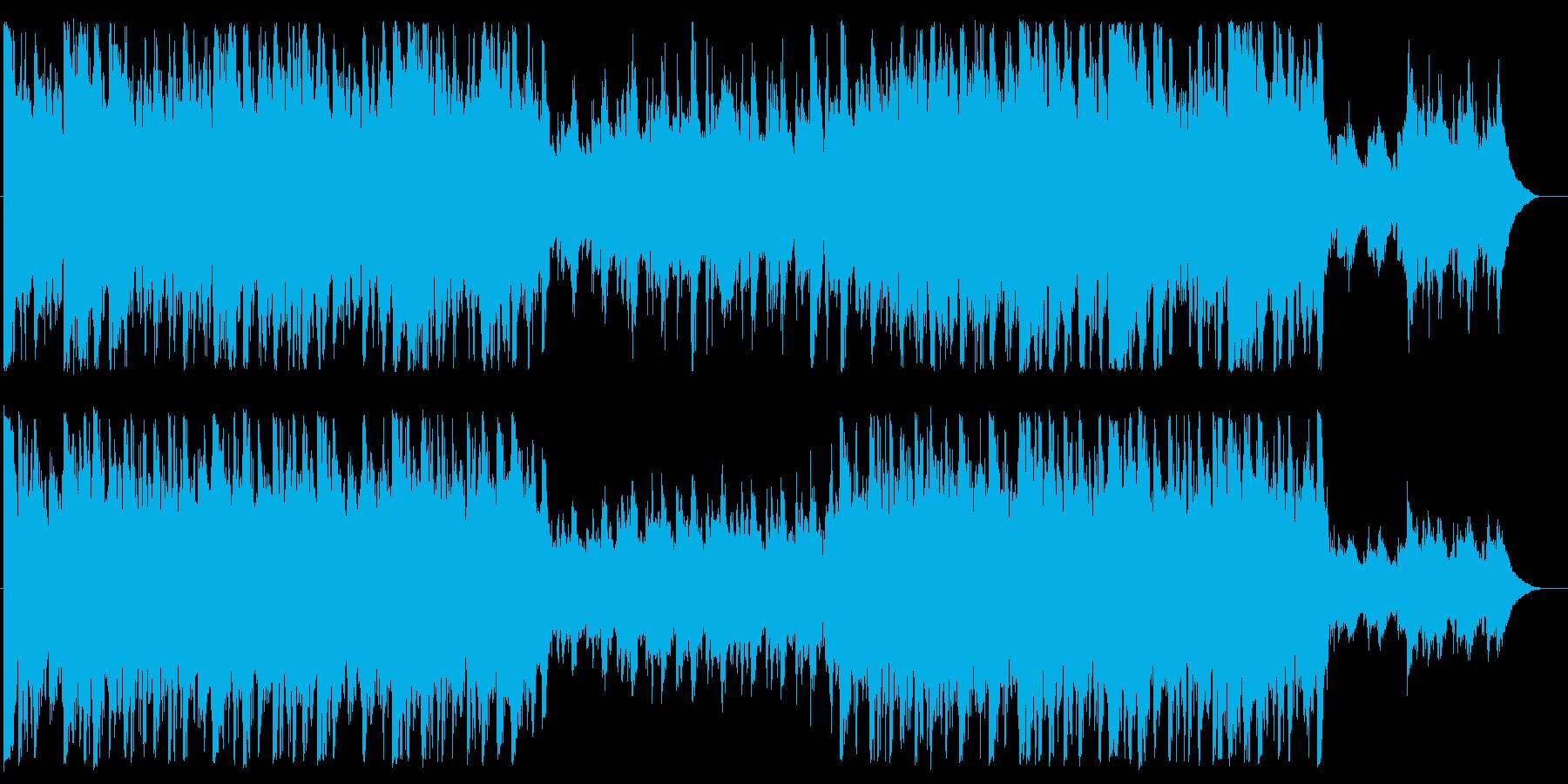 オーケストラ素材の再生済みの波形