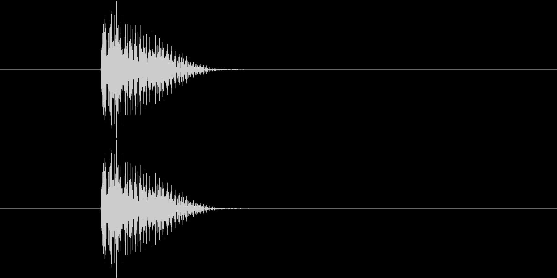 ブウィンっ(シンセ効果音)の未再生の波形