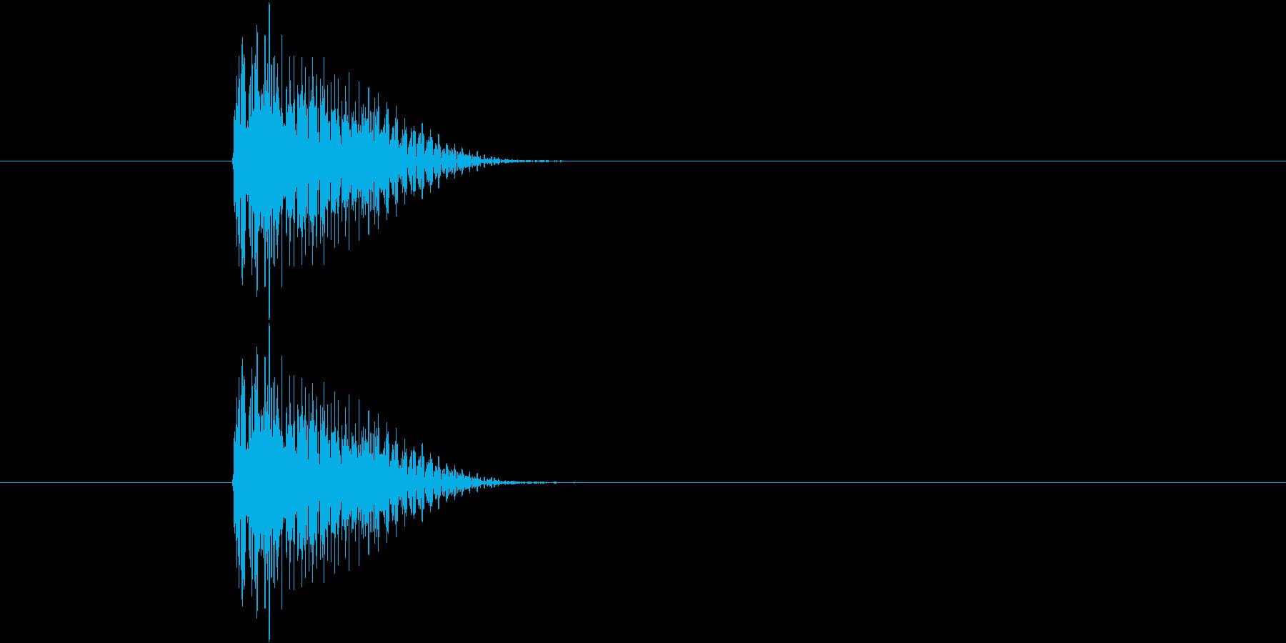 ブウィンっ(シンセ効果音)の再生済みの波形