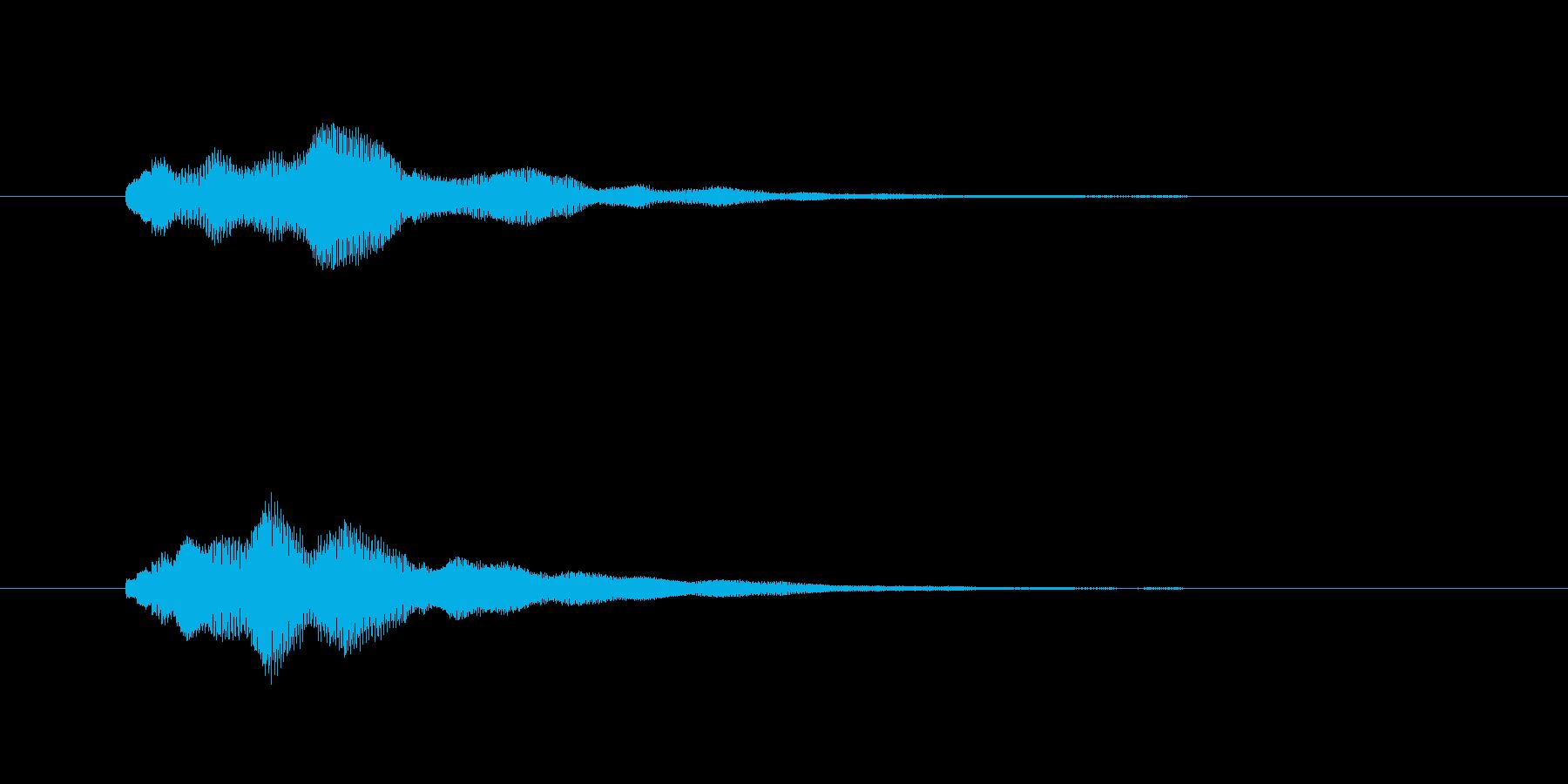携帯、スマホなどの着信音ですの再生済みの波形
