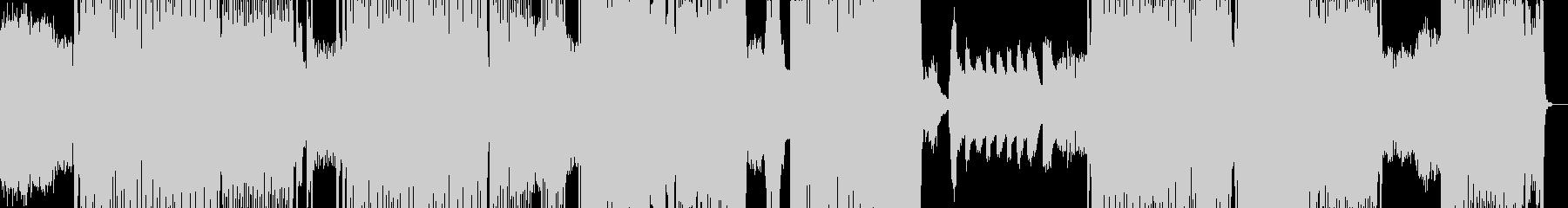 DTM ノイズトランステクノポップスの未再生の波形