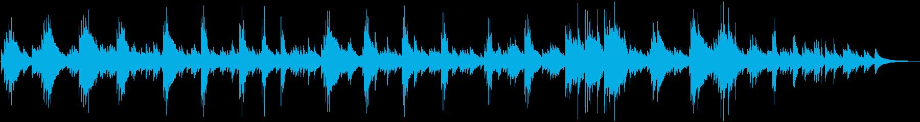 映画で流れそうな切ないピアノ音楽の再生済みの波形