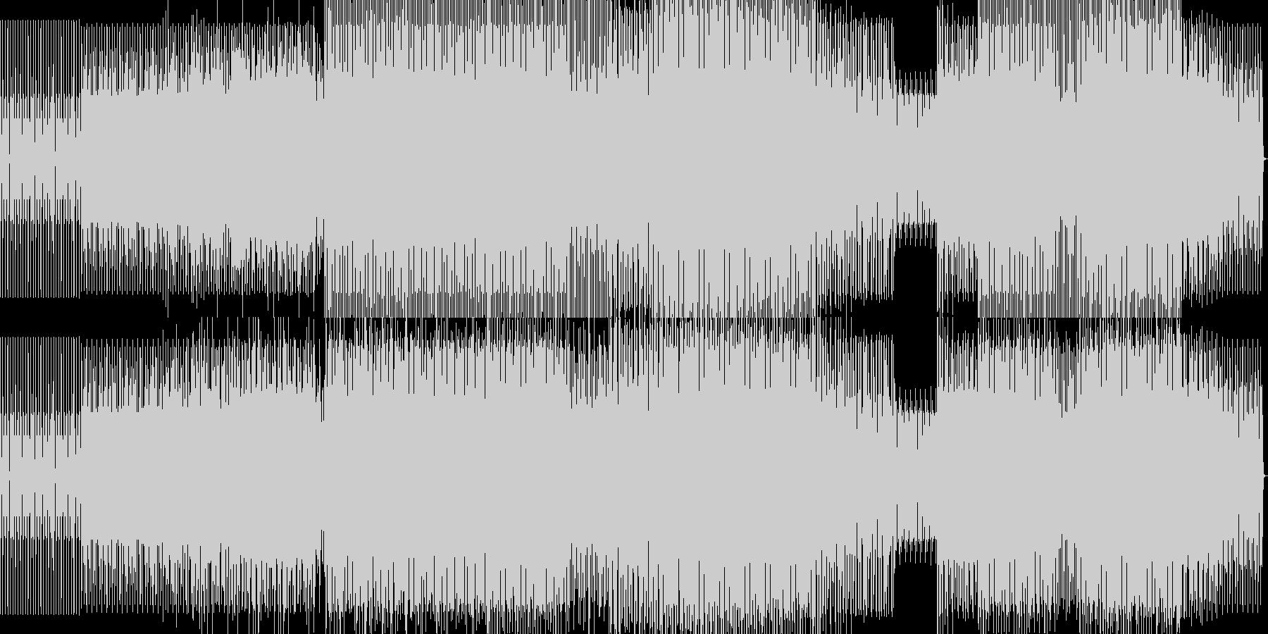 minimal technoの未再生の波形