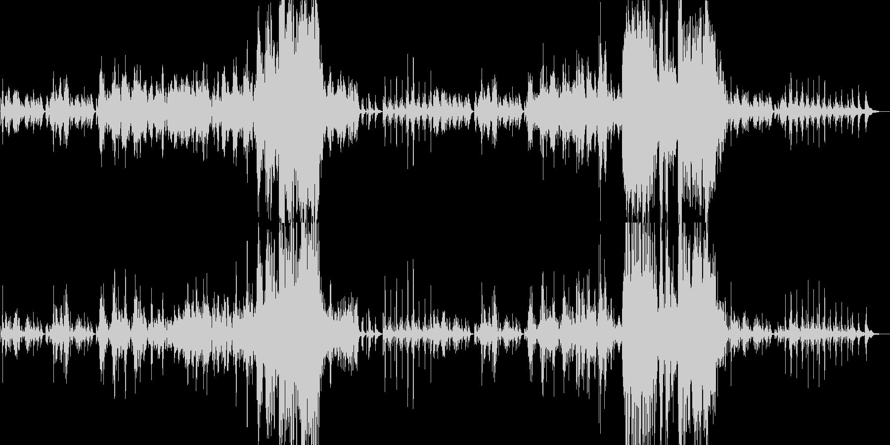 切なくもドラマティックなピアノソロの未再生の波形