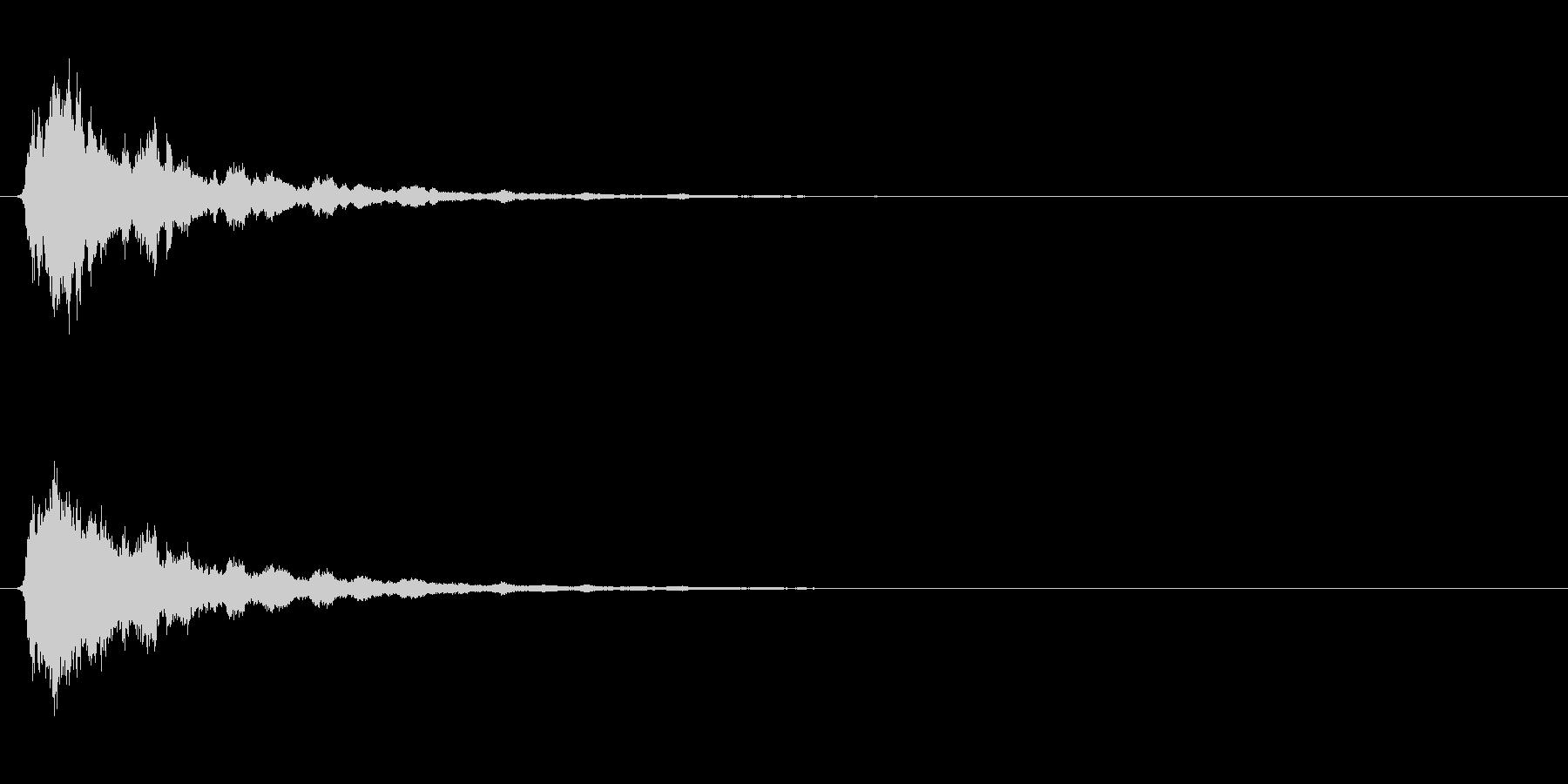 ホラー系のSEの未再生の波形
