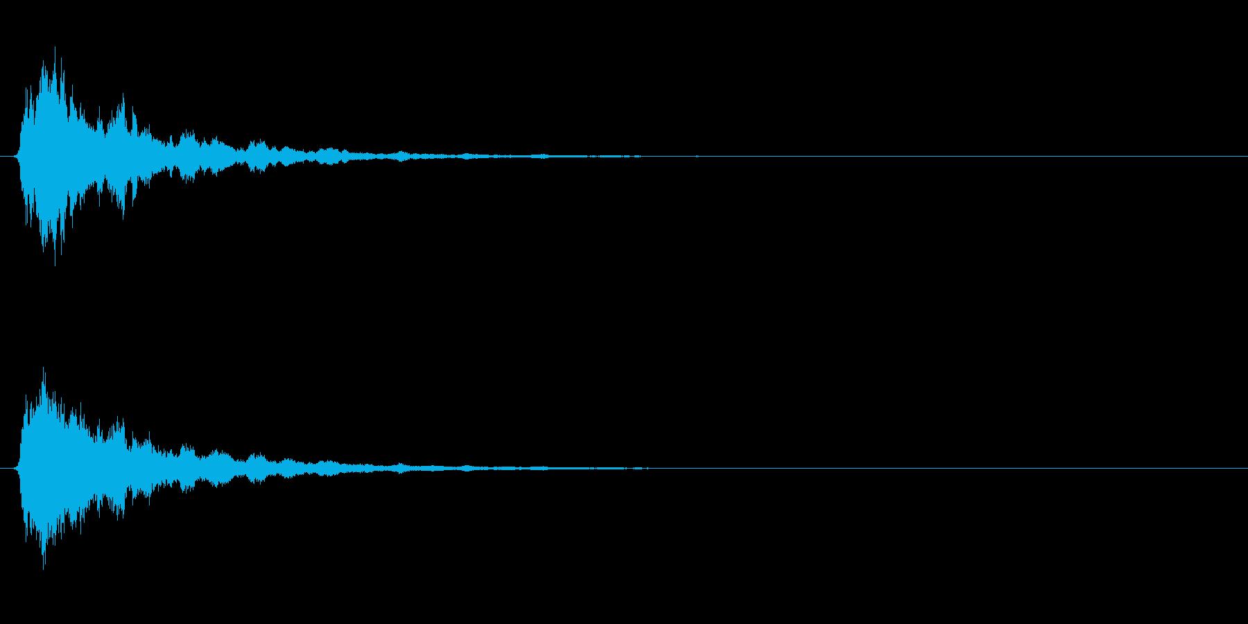 ホラー系のSEの再生済みの波形