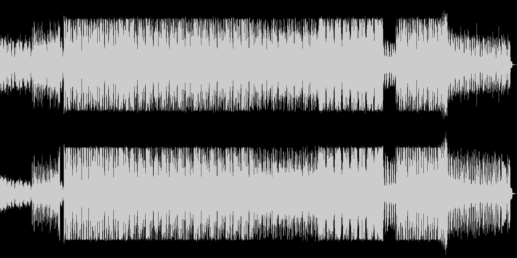 ベースの低音から始まるサスペンス感ある曲の未再生の波形