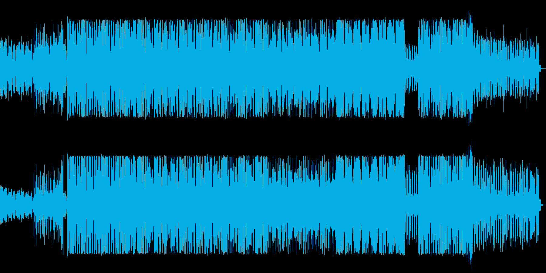 ベースの低音から始まるサスペンス感ある曲の再生済みの波形