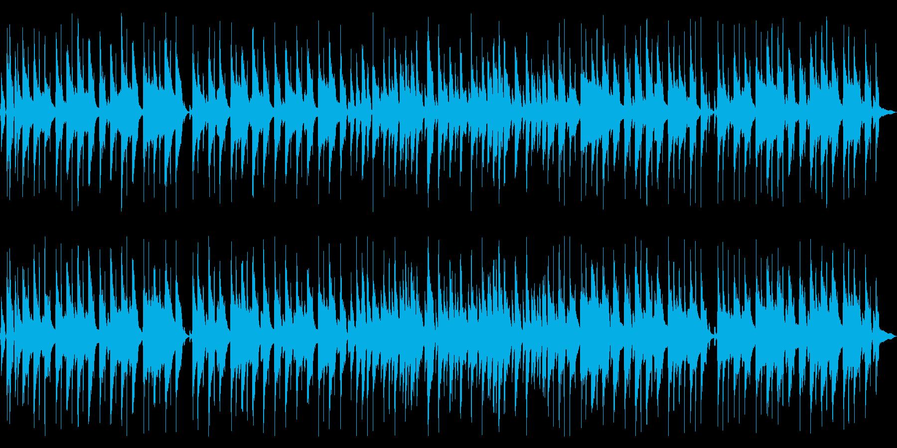 のんびりとしたコンセプトムービーBGMの再生済みの波形