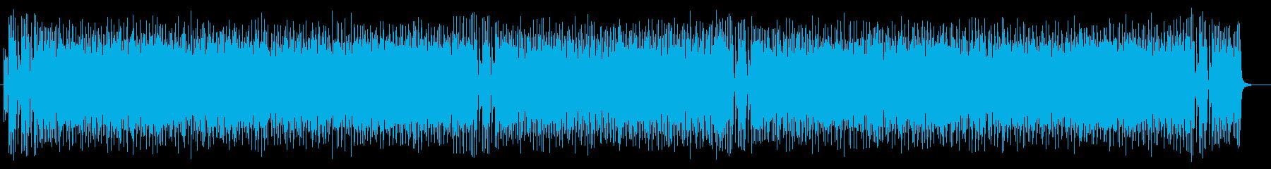 軽快でリズミカルなアップテンポポップスの再生済みの波形