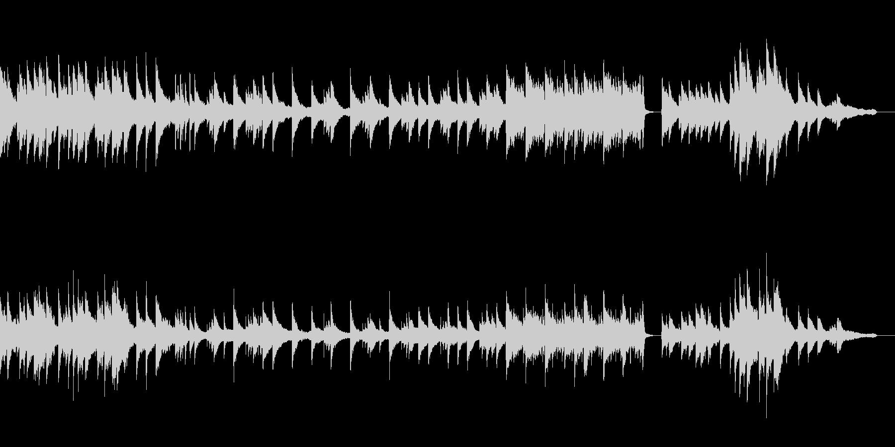 【感動のワンシーンに!】優しいピアノ曲の未再生の波形