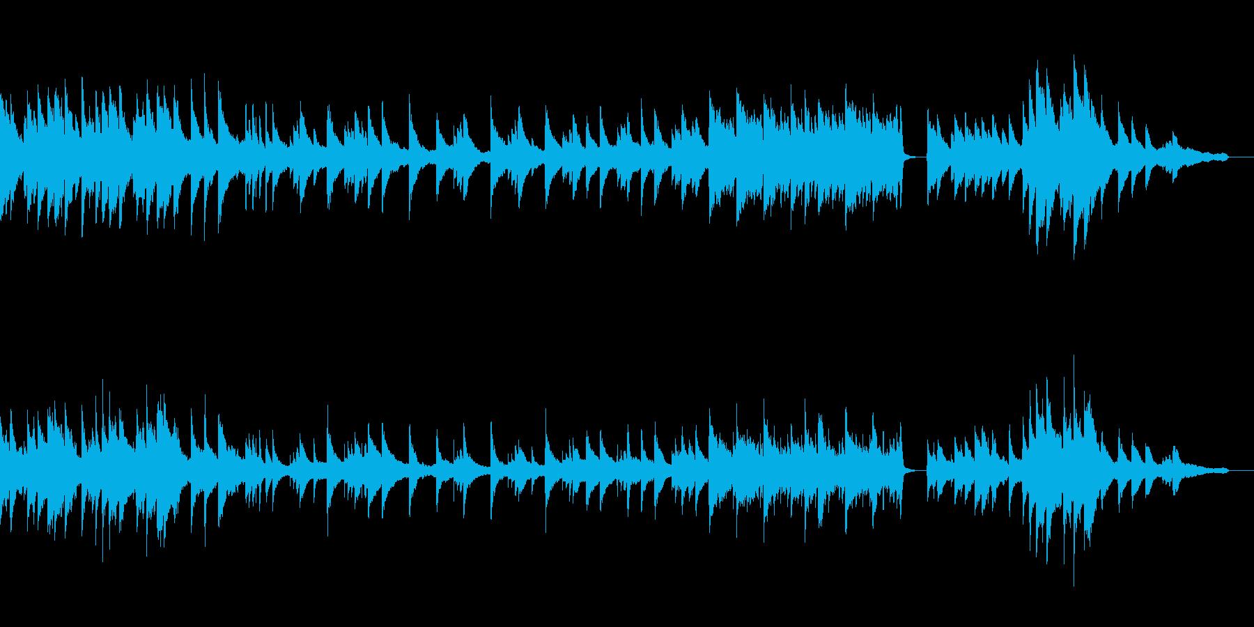 【感動のワンシーンに!】優しいピアノ曲の再生済みの波形