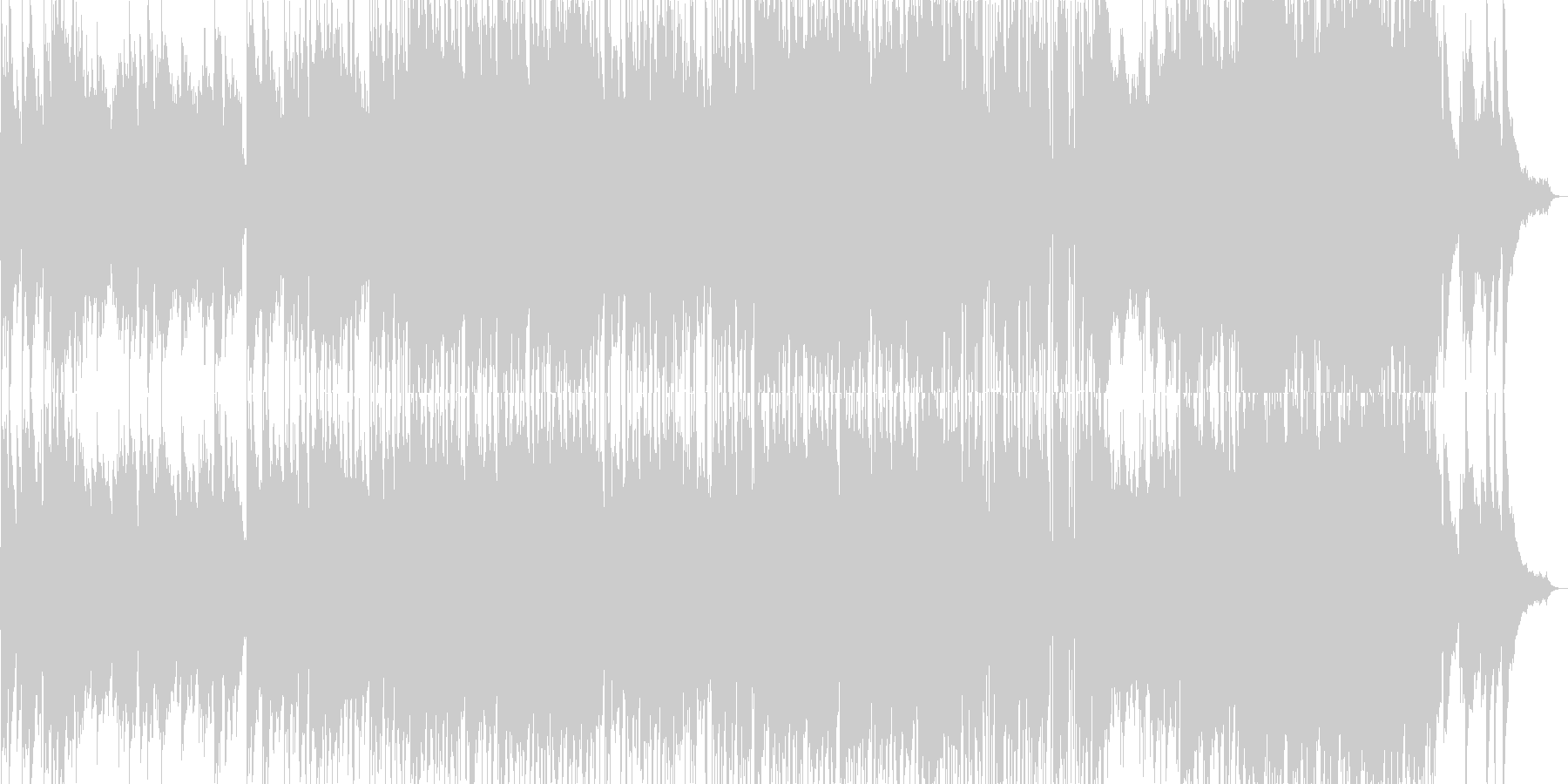 のびのびとした雰囲気のロックバラードの未再生の波形