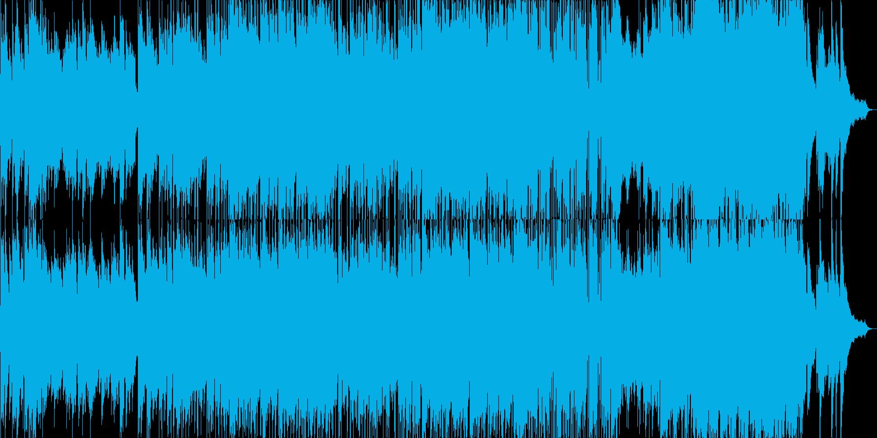 のびのびとした雰囲気のロックバラードの再生済みの波形