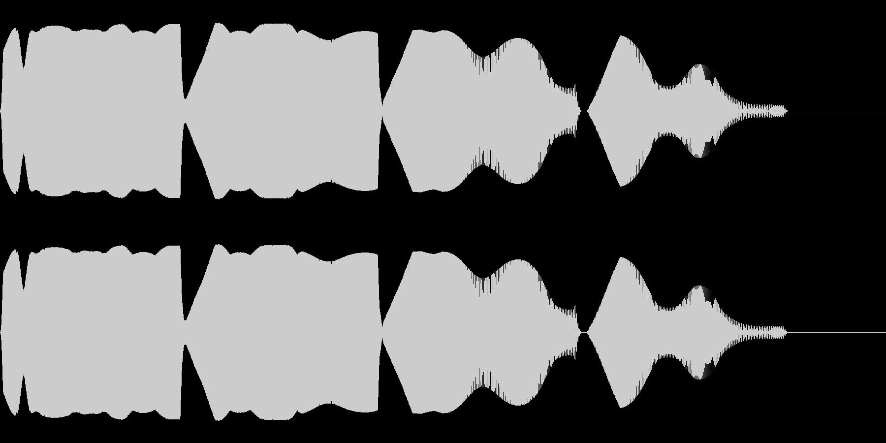 目を回すような効果音(混乱/ふらふら)の未再生の波形