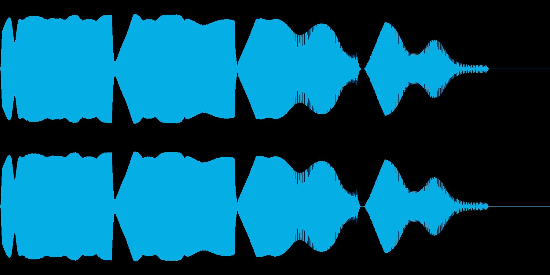 目を回すような効果音(混乱/ふらふら)の再生済みの波形