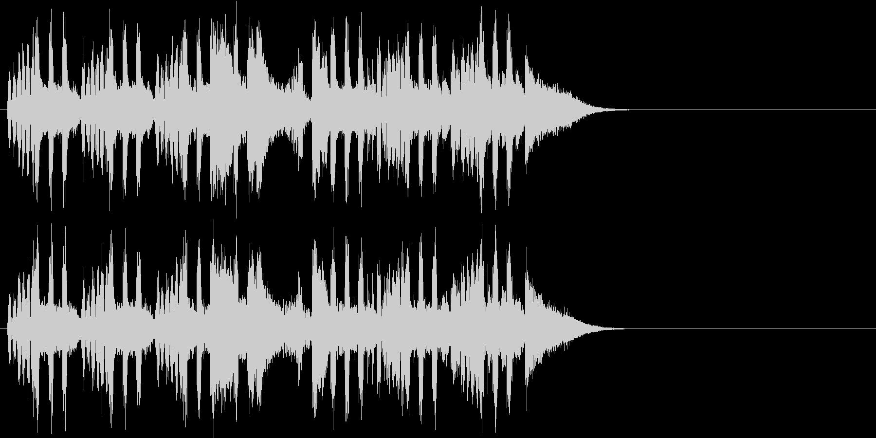 ゆったりしたエンディング(イントロ)の未再生の波形
