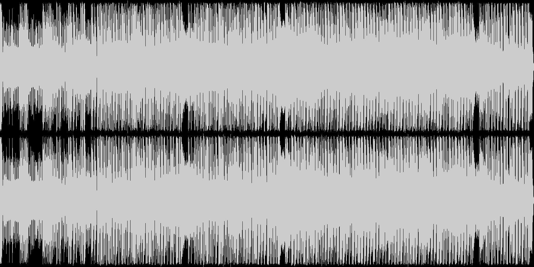 ハイテンポでノリノリのテクノポップの未再生の波形