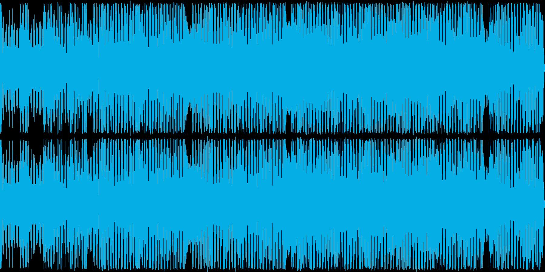 ハイテンポでノリノリのテクノポップの再生済みの波形