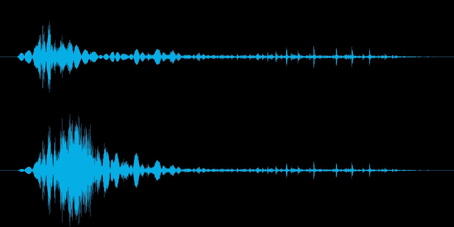 鞭(ムチ)で攻撃する効果音 08の再生済みの波形