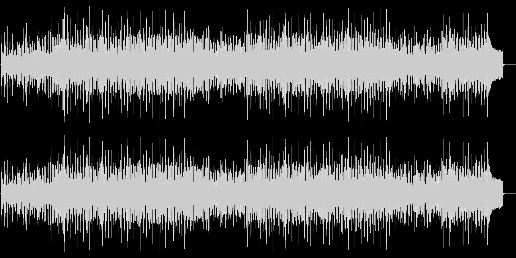 オルガンのゆったりしたBGMの未再生の波形