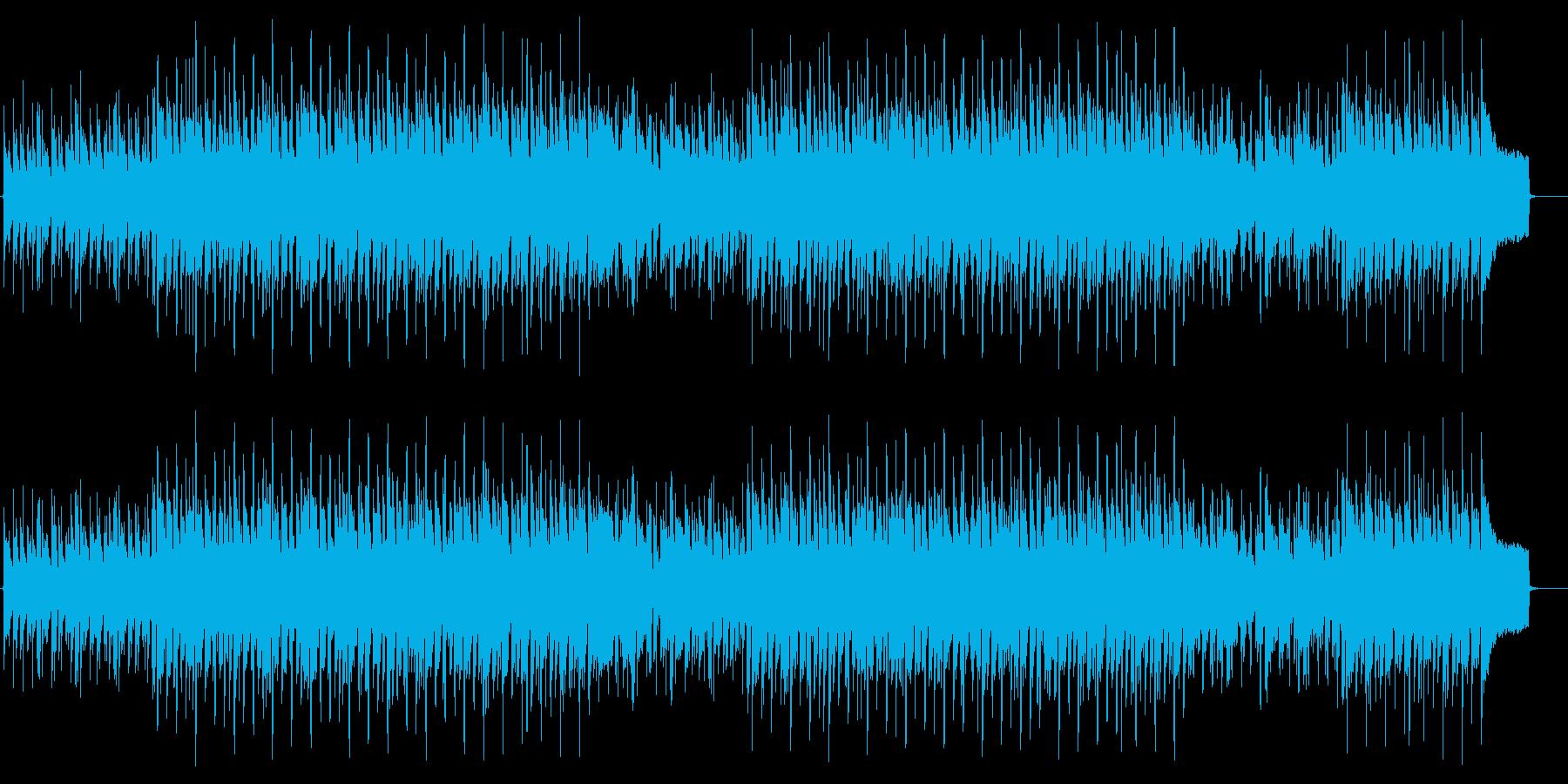 オルガンのゆったりしたBGMの再生済みの波形