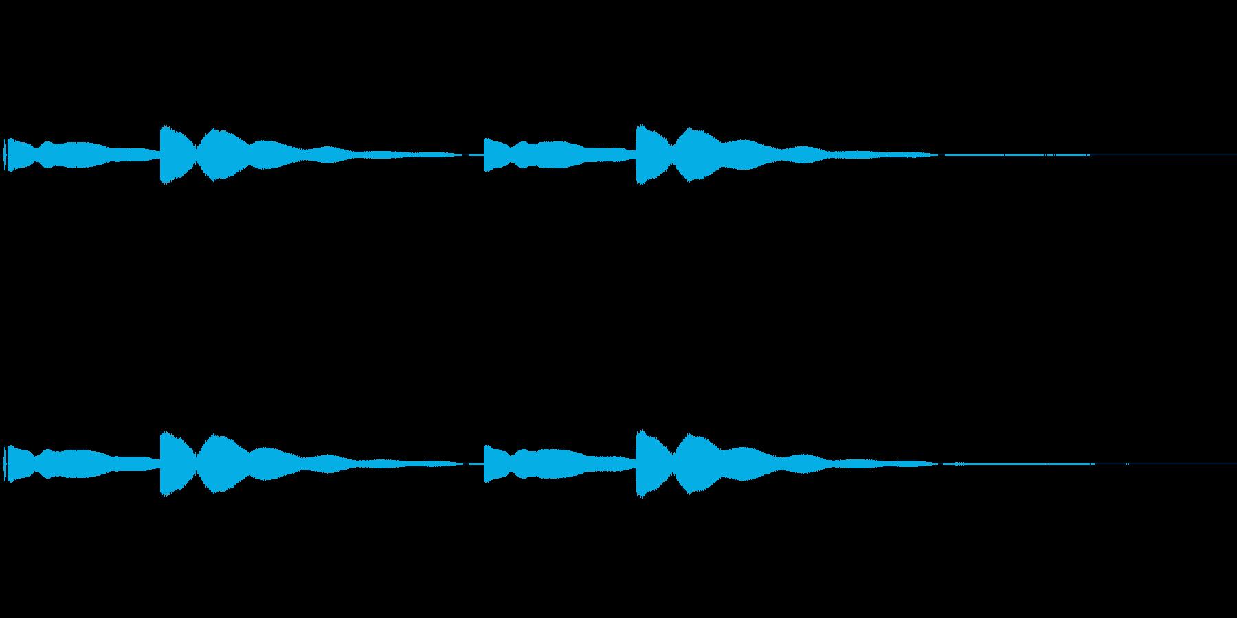 学校チャイム ピーンポーン 授業のはじまの再生済みの波形