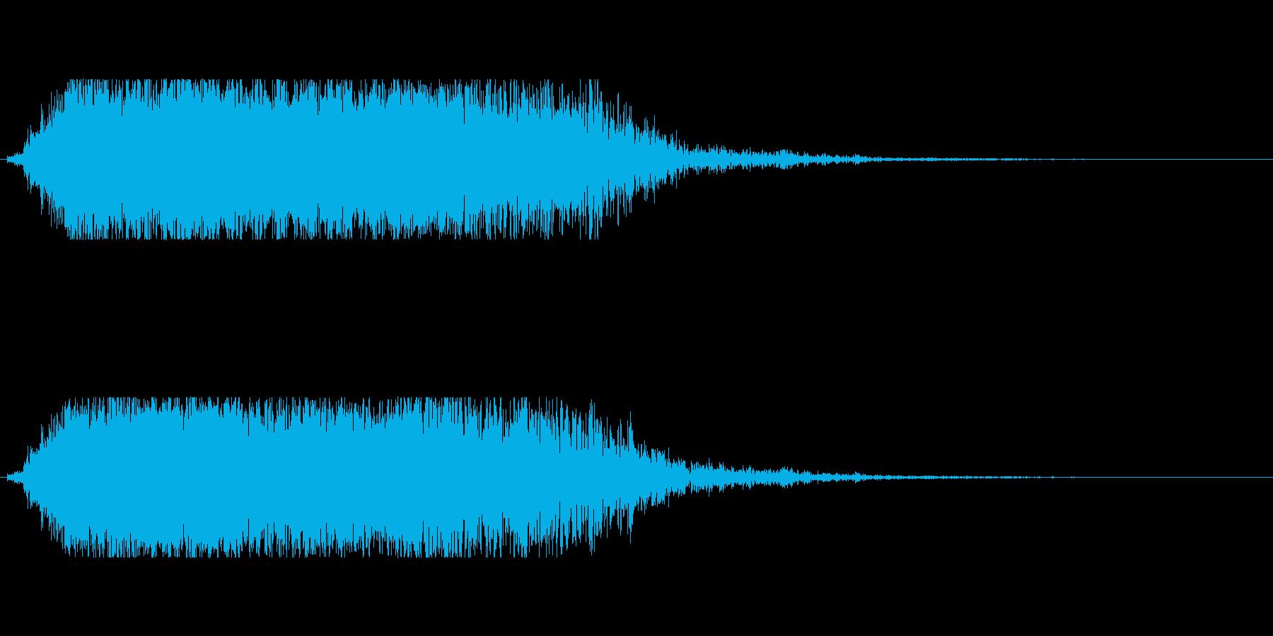 ギャオー(怪獣系の鳴き声)の再生済みの波形