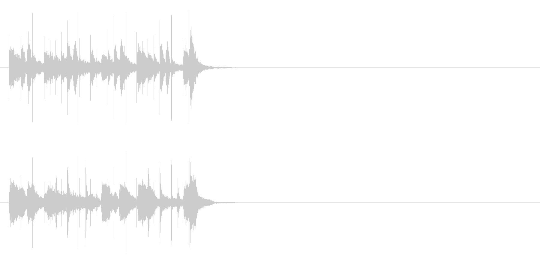 ベースがクールな軽快なジングルの未再生の波形