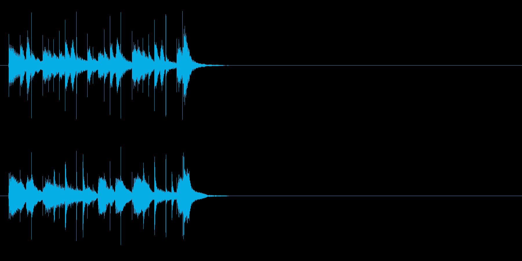 ベースがクールな軽快なジングルの再生済みの波形