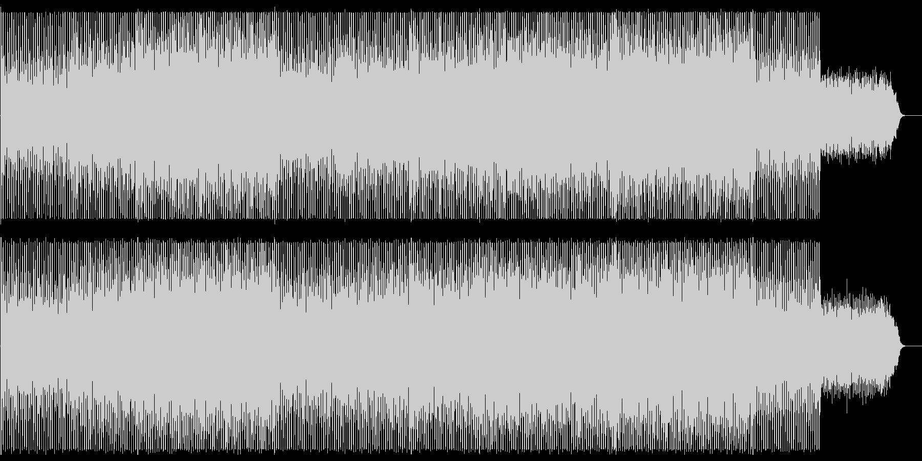 緩やかでリズミカルなシンセポップスの未再生の波形
