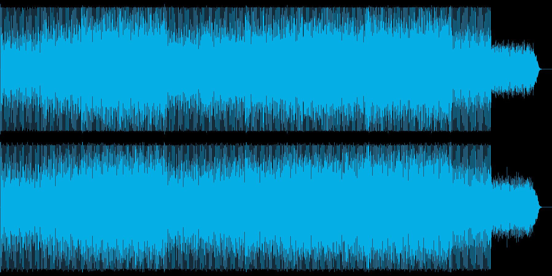 緩やかでリズミカルなシンセポップスの再生済みの波形