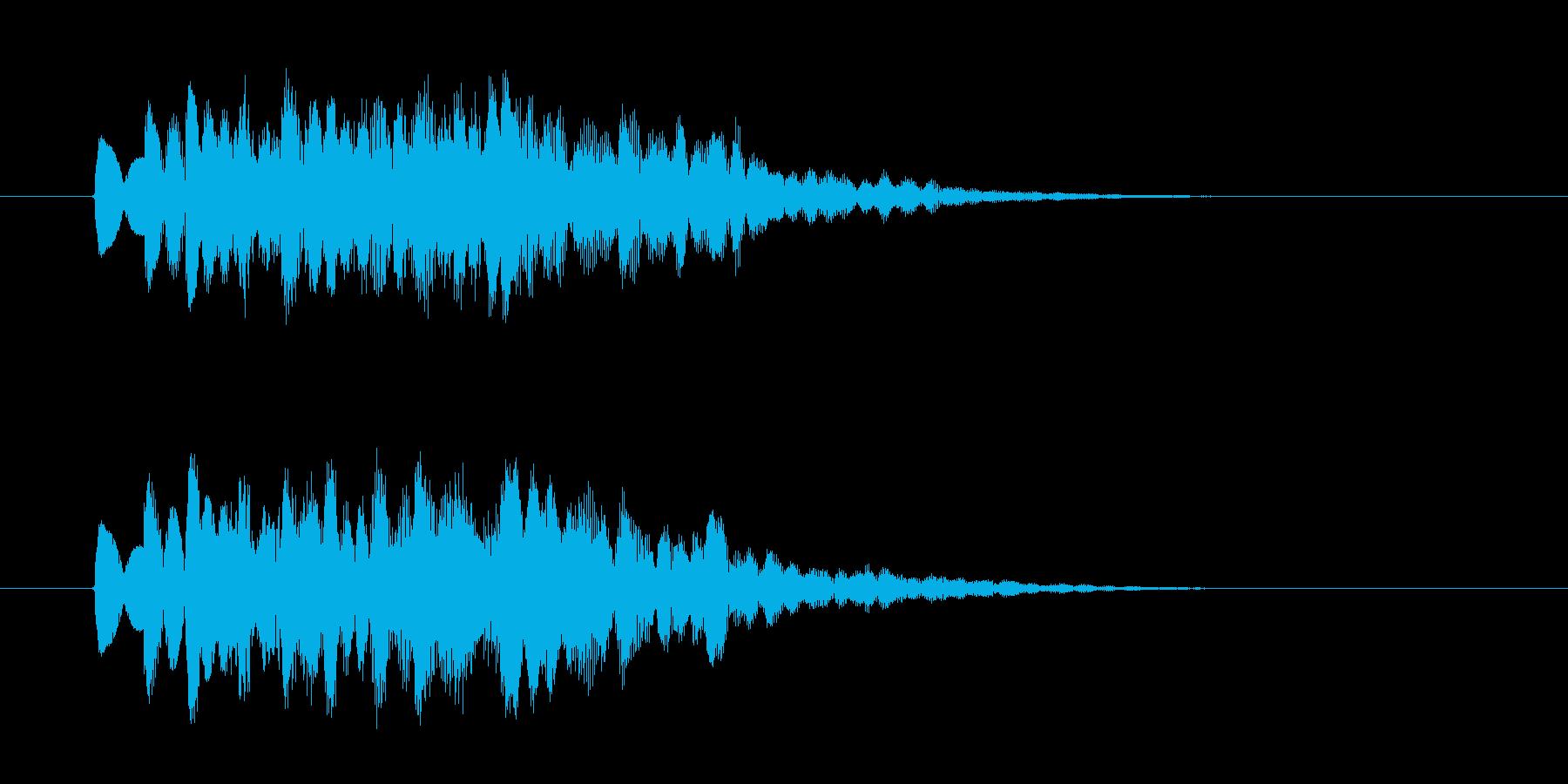 優しいシンセサウンド(お知らせ、発車)の再生済みの波形