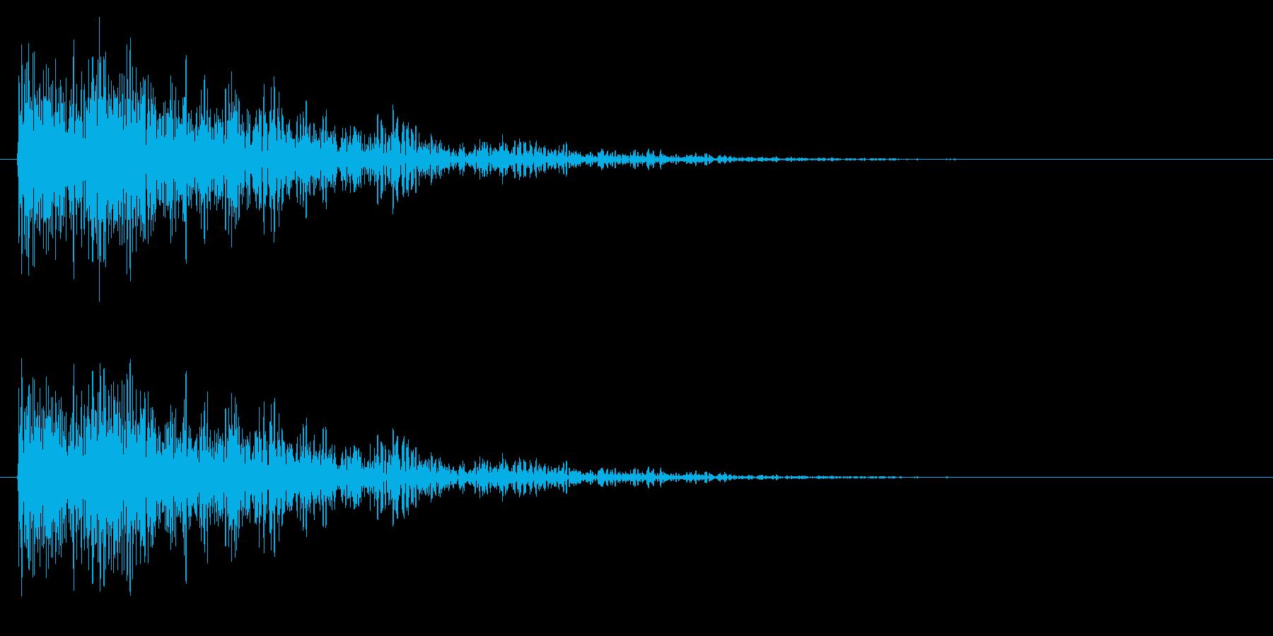 デュルル/残念/失敗の再生済みの波形