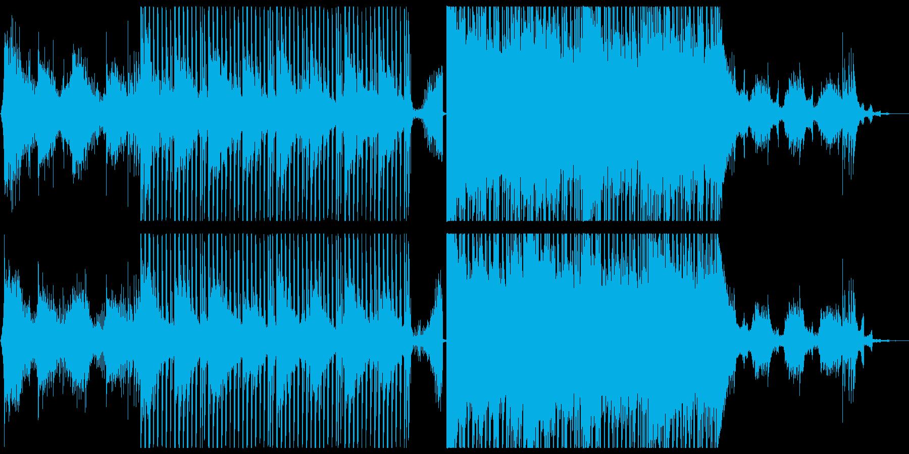 だんだん盛り上がる幻想的なRPG曲の再生済みの波形