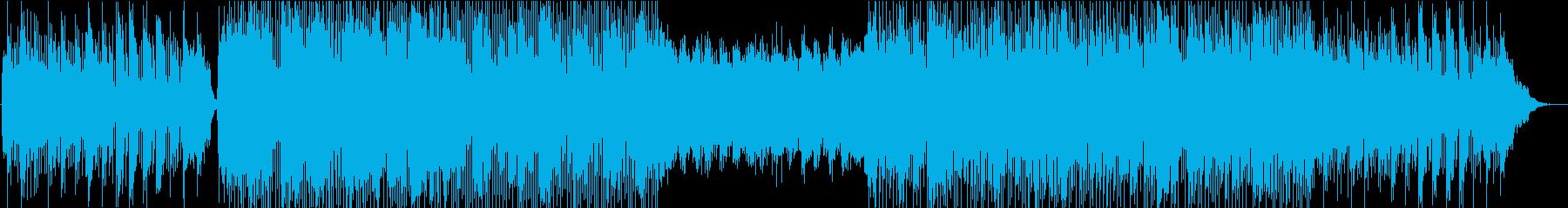 クリスマス風のシンセポップの再生済みの波形