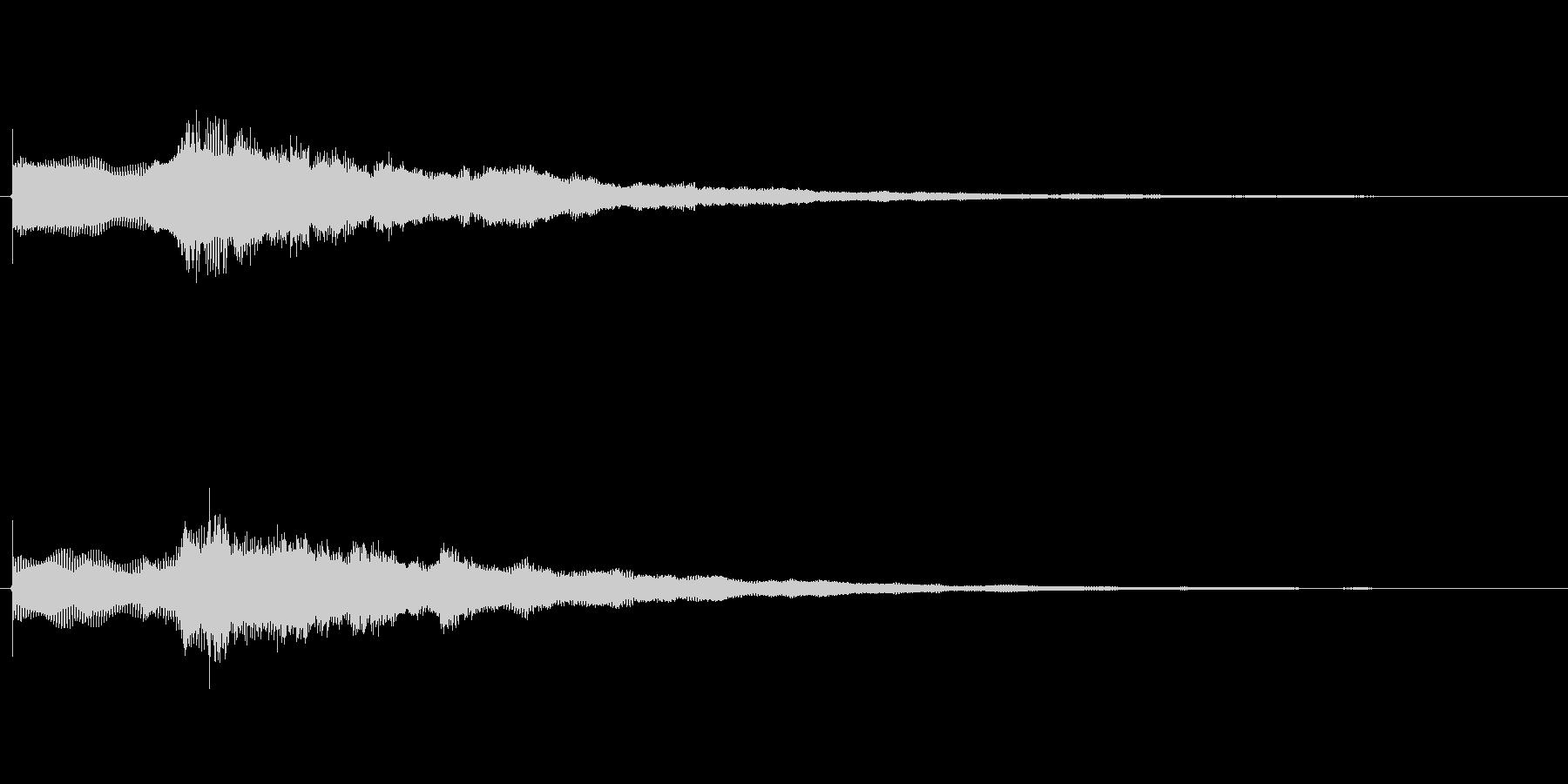ステージクリア音の未再生の波形