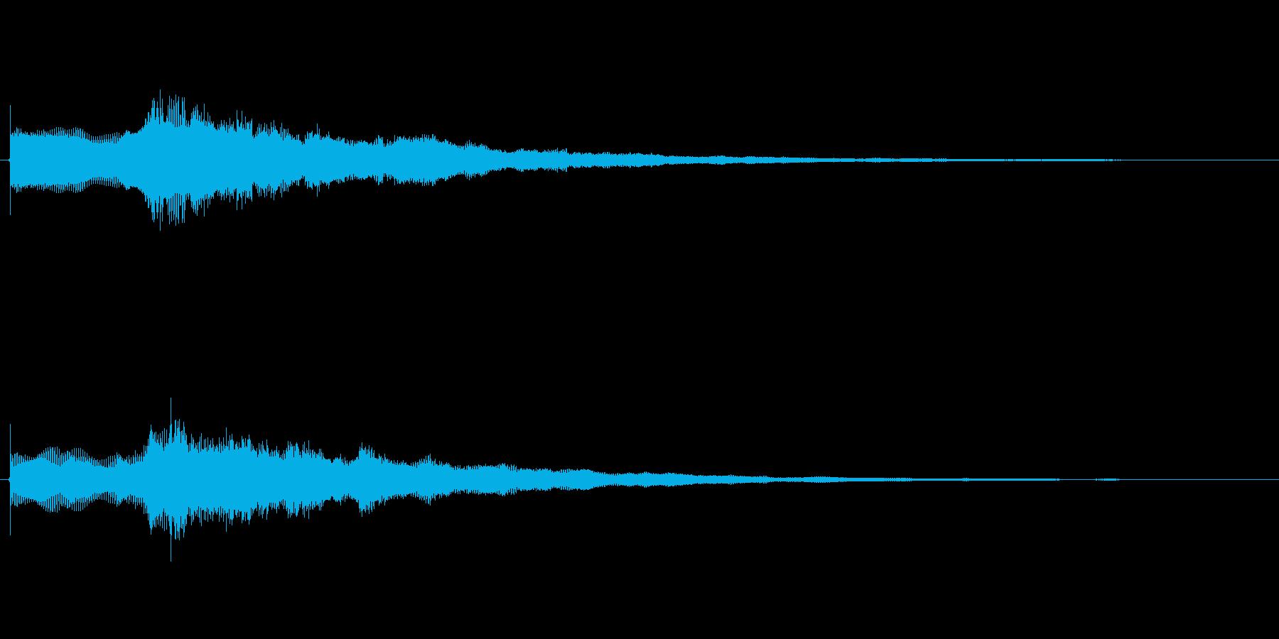 ステージクリア音の再生済みの波形