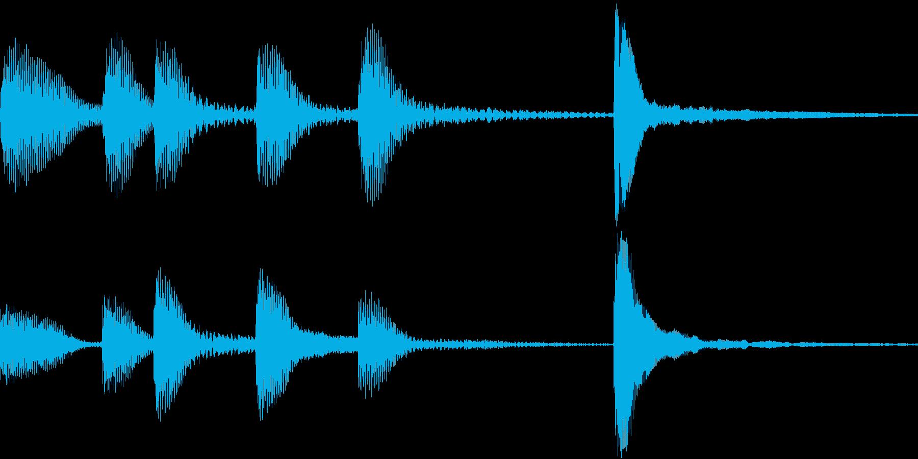 ピアノのジングル、ラジオ等の再生済みの波形