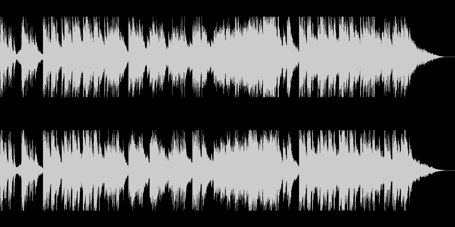 美しいピアノとストリングスのヒーリングの未再生の波形