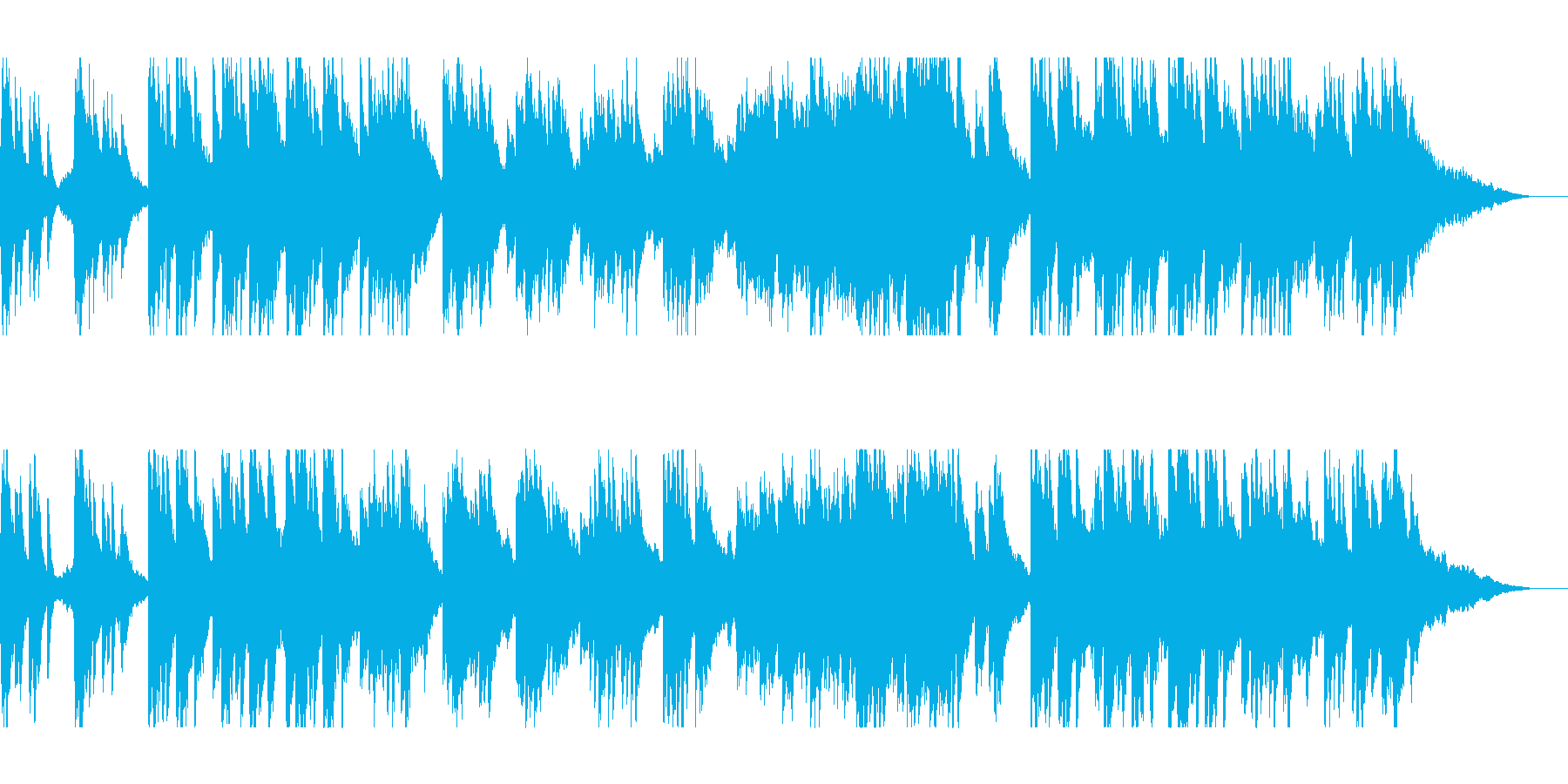 美しいピアノとストリングスのヒーリングの再生済みの波形