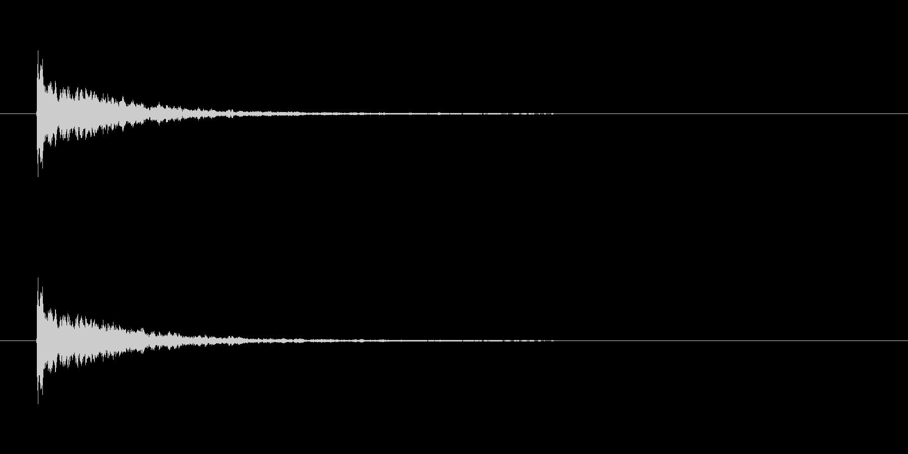 【アクセント11-1】の未再生の波形