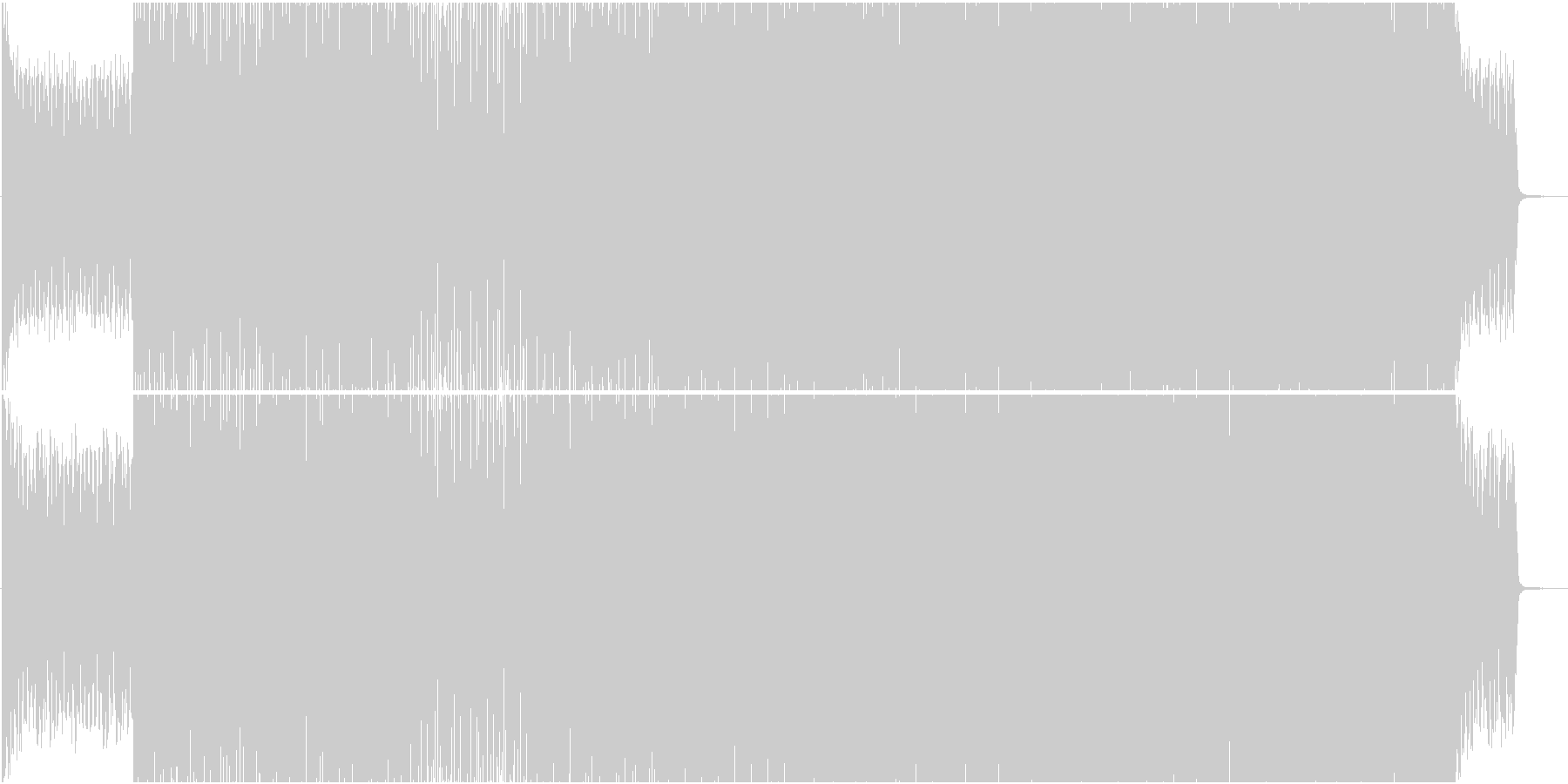 EDM系BGM(ブレイクなし)の未再生の波形