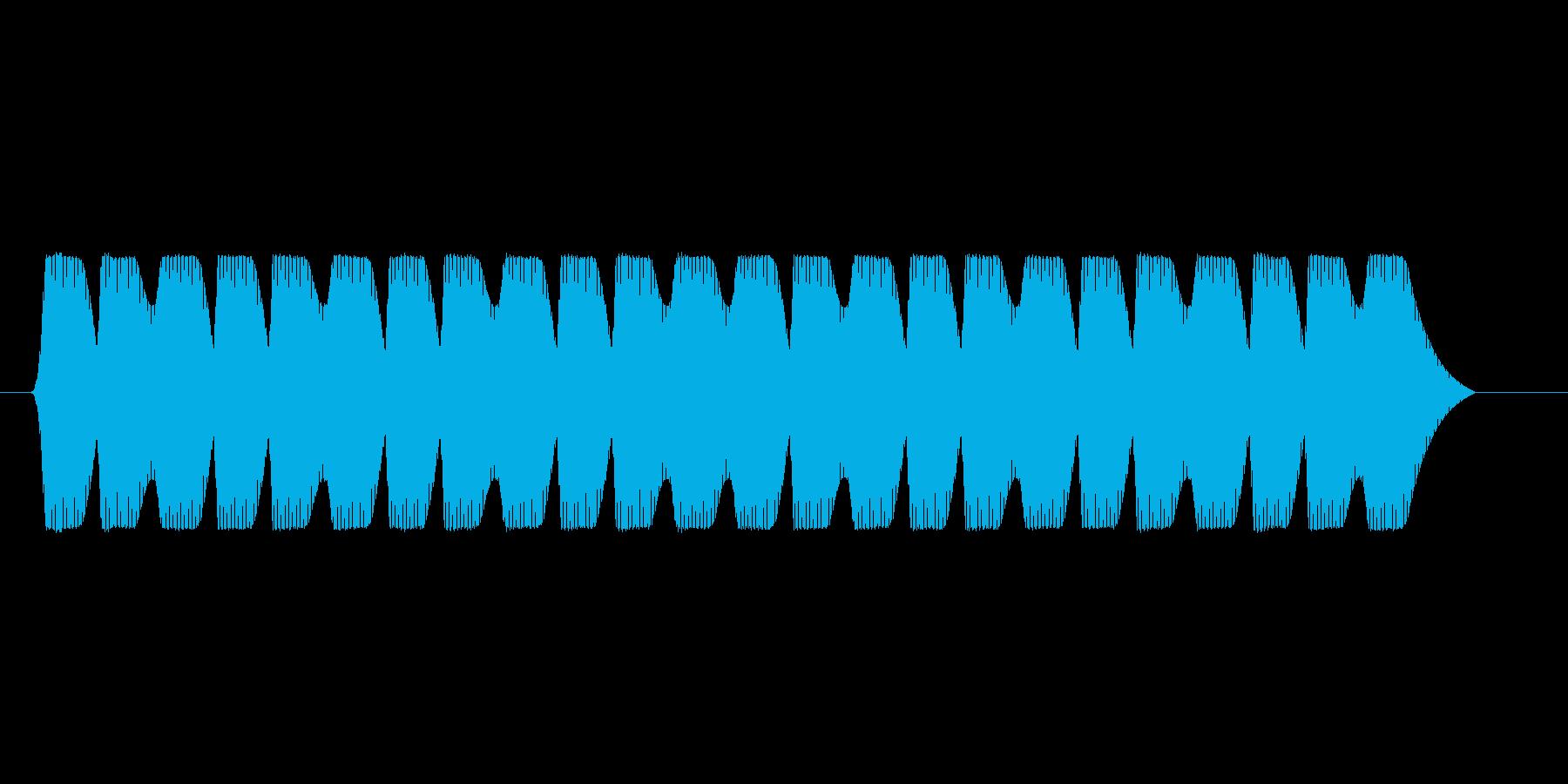 ファミコン風 台詞.メッセージ音 02の再生済みの波形