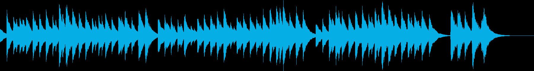 定番クリスマスソングのオルゴールA 1分の再生済みの波形