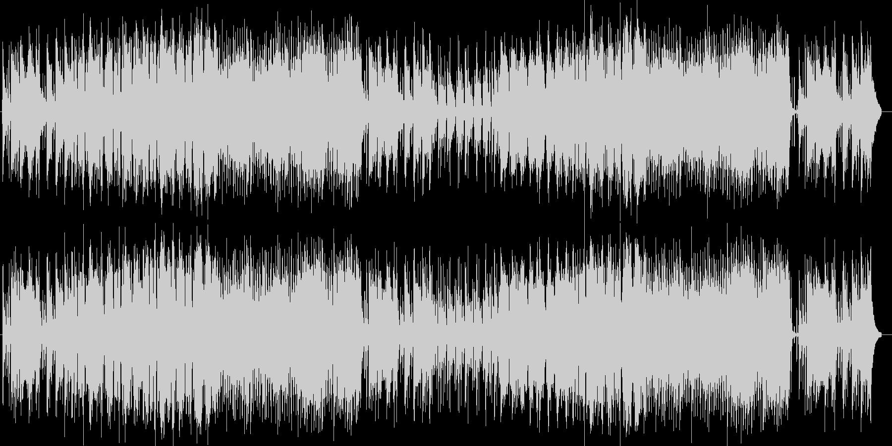 可愛らしい印象のシンセポップスの未再生の波形