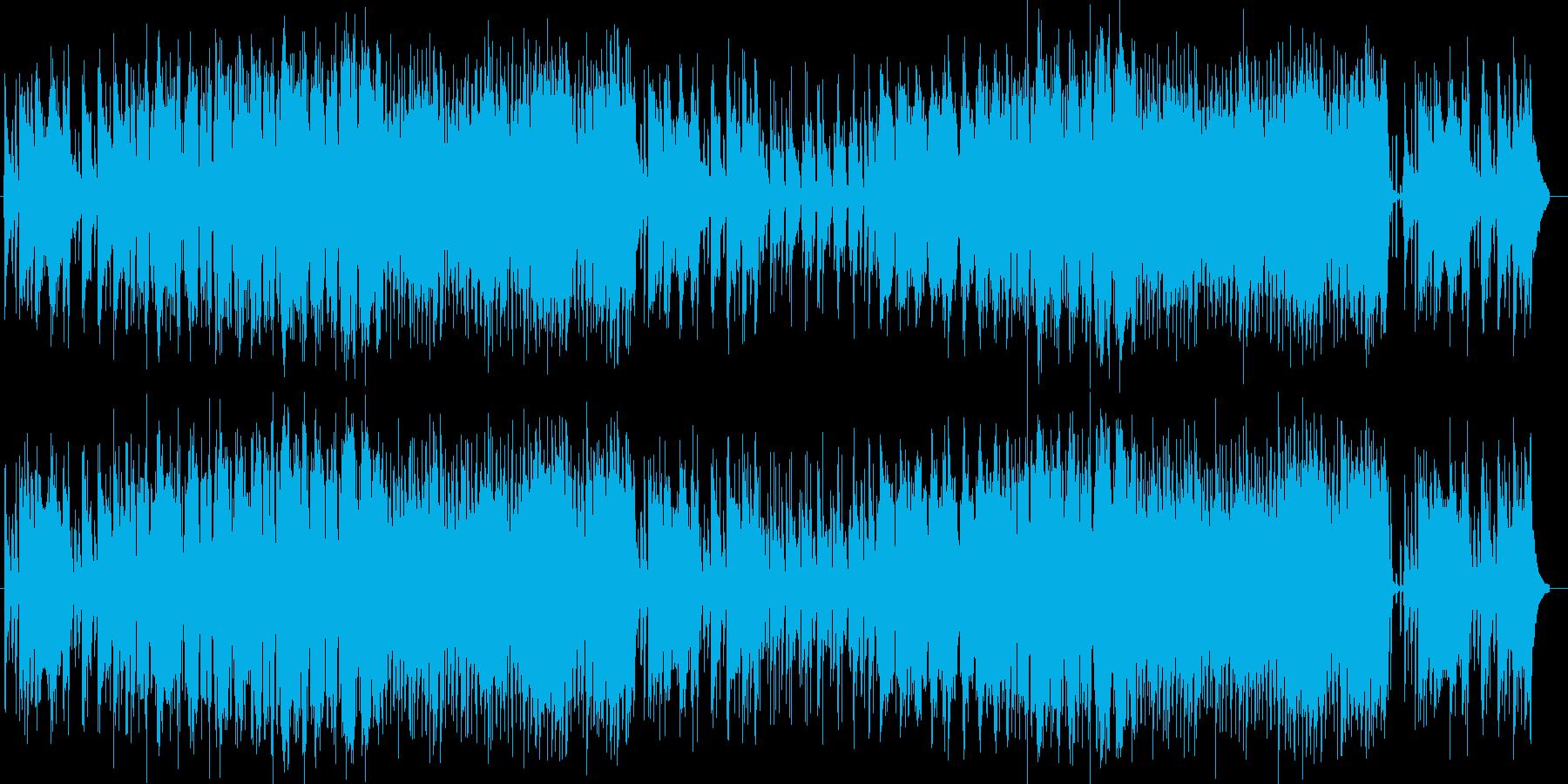 可愛らしい印象のシンセポップスの再生済みの波形