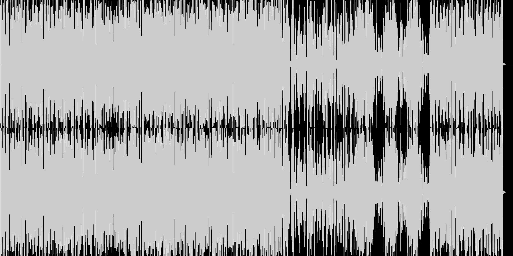 軽快なブルースピアノトリオの未再生の波形
